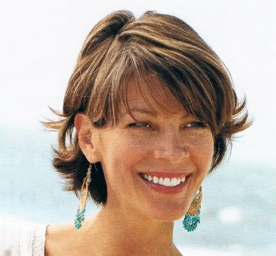 cute short hair cut with easy, messy style