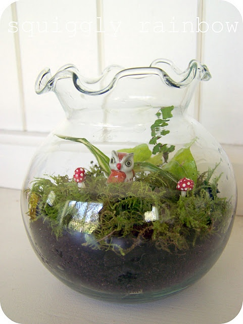 TerreriumFlowers Gardens, Gardens Genius, Enchanted Gardens, Miniature Gardens, Terrariums Gardens, Flower Gardens, Gardens Miniatures, Gardens Terrariums, Miniatures Gardens