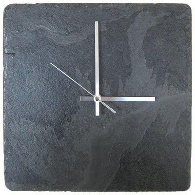 Platters Slate Square Slate Clock