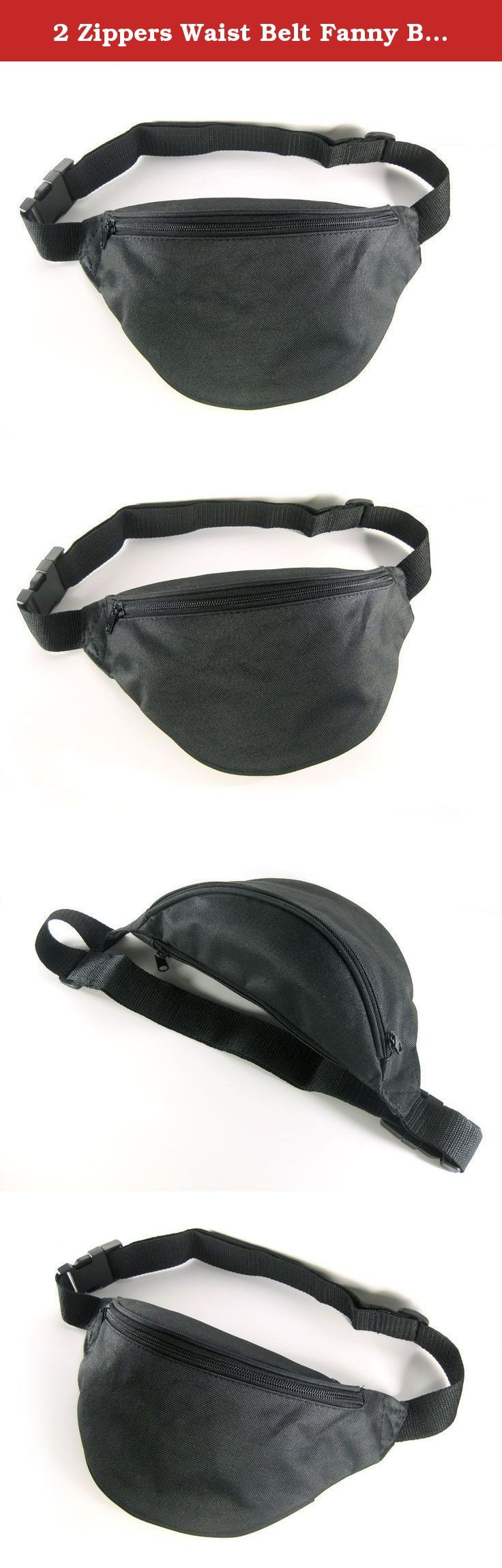2 Zippers Waist Belt Fanny Bag Unisex Men Women Sport Black Blue Red NEW (Black). Keep your personal items safe while still being able to access them easily when traveling abroad, running a simple errand, during a yard sale or even taking a bike ride. The waist strap can be freely extended or shorten per your needs.