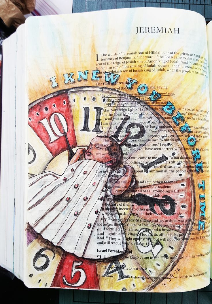 Jeremiah 1:5 The Original Bible Art Journaling Challenge 15 http://www.rebekahrjones.com/bible-art-journaling-challenge/the-original-bible-art-journaling-challenge/