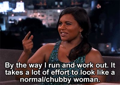 Image result for mindy kaling by the way i work out
