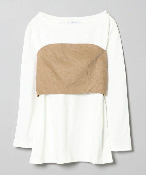JEANASIS(ジーナシス)の「ベア2P/749469 (Tシャツ/カットソー)」|ベージュ