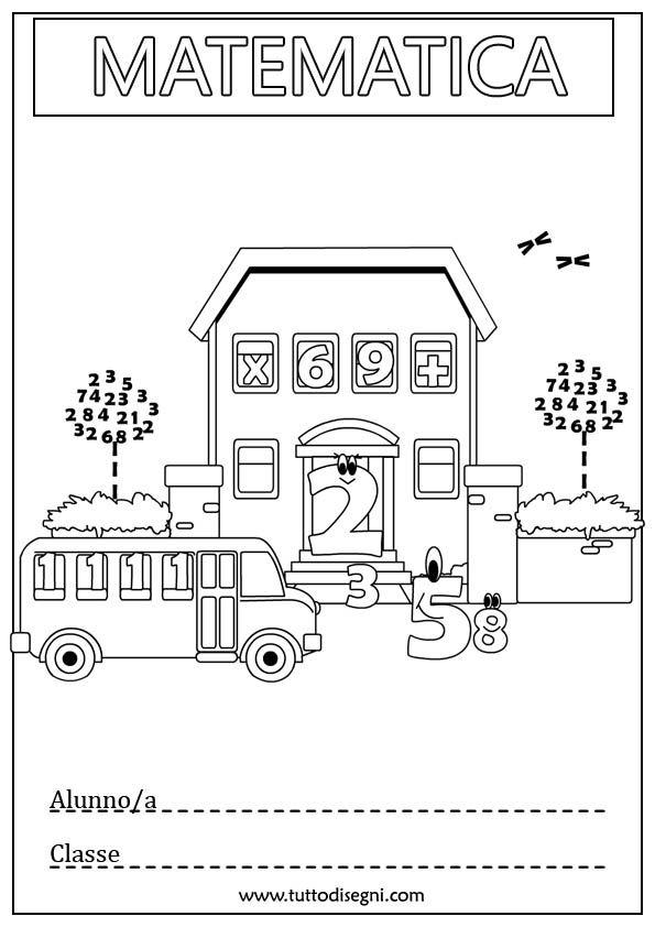 Copertina di matematica per quaderno - TuttoDisegni.com