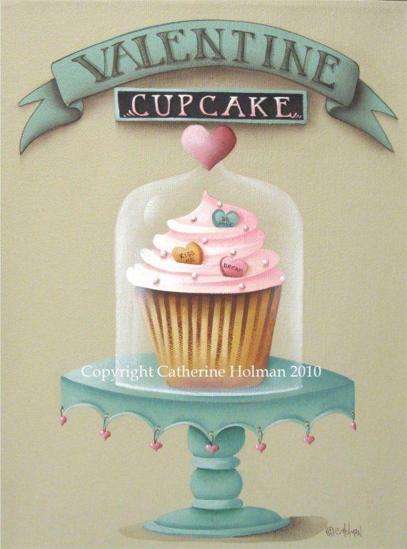 Un dulce cupcake para su especial San Valentín! Este pastel amarillo apilado con glaseado Rosa esponjosa y acentuado con el corazón en forma de