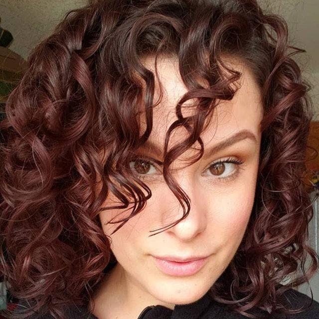 Trieste Red Deep Reddish Mahogany Brown Hair Color In 2020 Redish Brown Hair Colored Curly Hair Hair Color Auburn