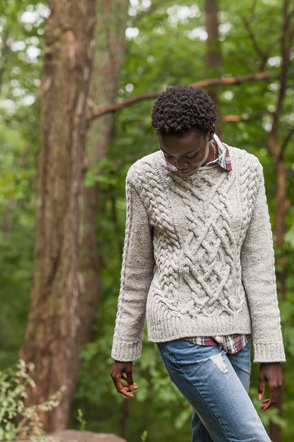 Stonecutter cabled pullover by BrooklynTweed - I am going to make this in Malabrigo Rios, Lettuce colorway.