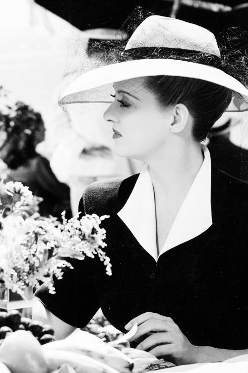 """Bette Davis in """"Now, Voyager"""", 1942.  One the best films of all time (IMHO)"""