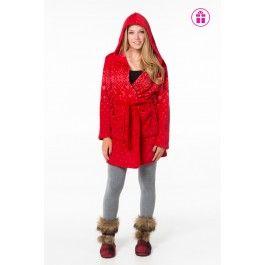 Red Snowflake Fuzzy Robe