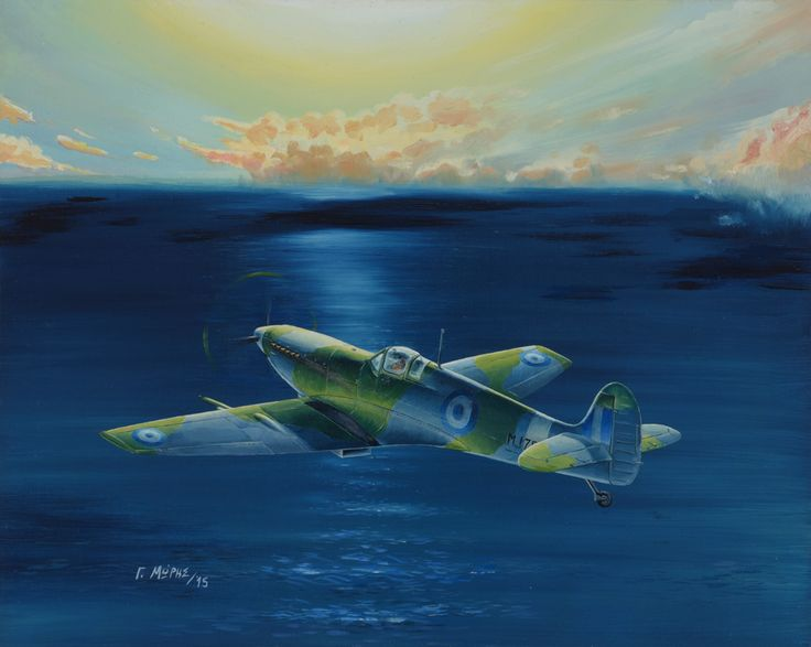 HAF Museum's Spitfire MJ-755. This painting depicts the Hellenic Air Force Museum's Spitfire Mark IX - LF with Serial MJ755. This aircraft was a D-day veteran and has been handed to the Royal (back then) Hellenic Air Force.  Copyrights @ Moris Georgios / 2015.