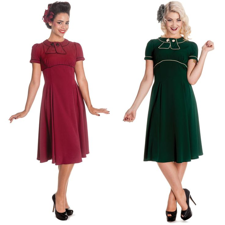 Hell Bunny Mae West 1940s 50s Wartime Landgirl Victory Tea Fancy Dress in Dresses | eBay