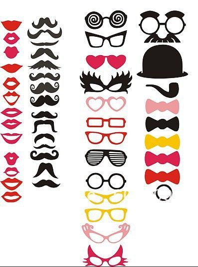 Hot selling! 50 Different Styles photo booth props! FUN PARTY WEDDING VINTAGE-in Event & Party Supplies from Home & Garden on Aliexpress.com