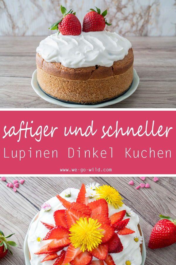 Lupinenmehl Kuchen Mit Erdbeeren Ricetta Pinterest
