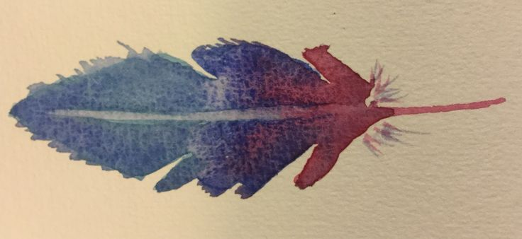 Watercolor feather Made by Neve Mackay