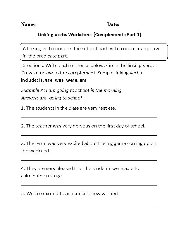 Best  Linking Verbs Worksheet Ideas On   Teaching