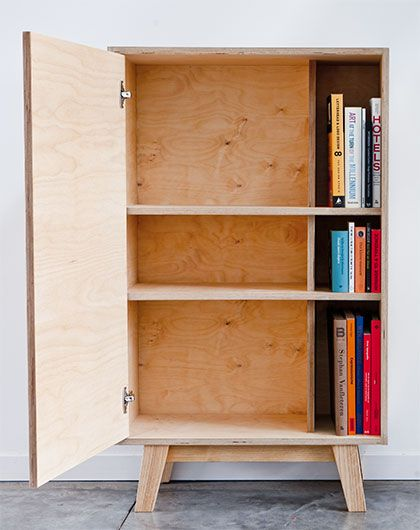 thanks to the tree plywood bookshelf