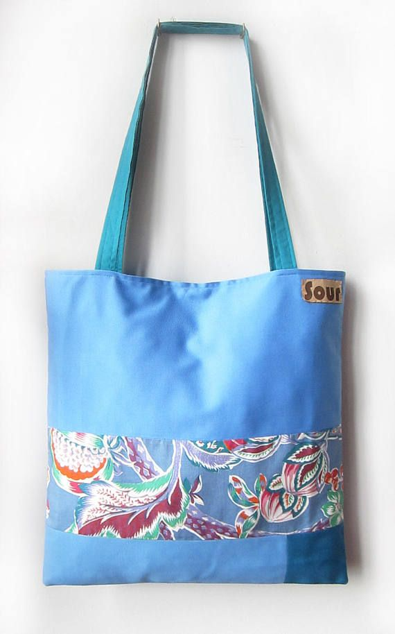 ON SALE Chasing Light // Sky Blue Teal Blue and Floral Print