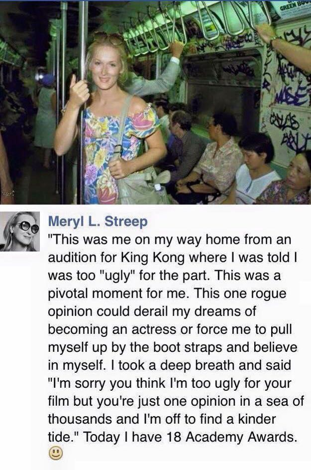 """Meryl L. Streep: A story of her career as an actress: """" … I was told I was too… – Ethnostories – Unterwegs als Künstlerin"""