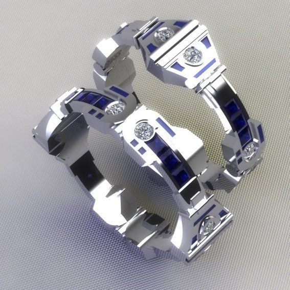 Amazing R2-D2 Wedding Ring and Bands — GeekTyrant