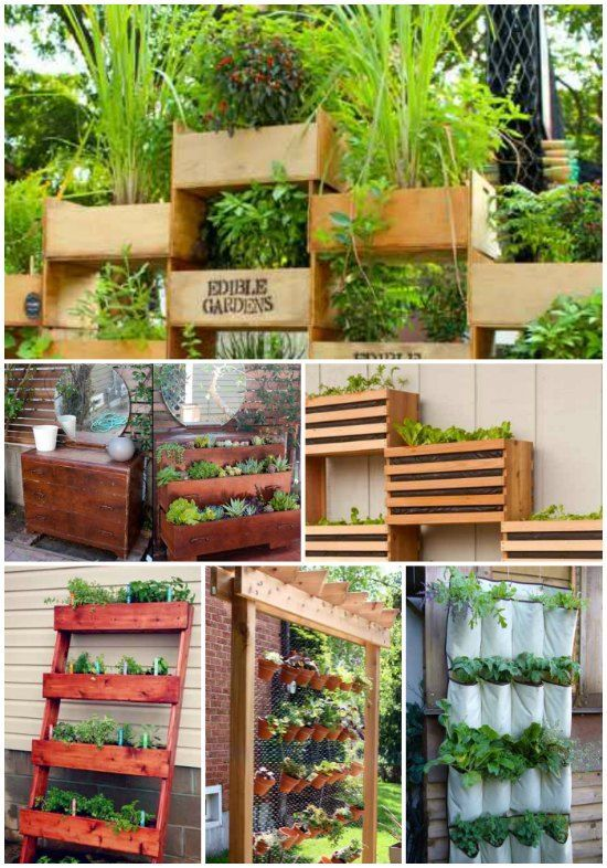 16 Vertical Garden Ideas For Your Home | Growing plants vertically is a great idea to save space around the home.
