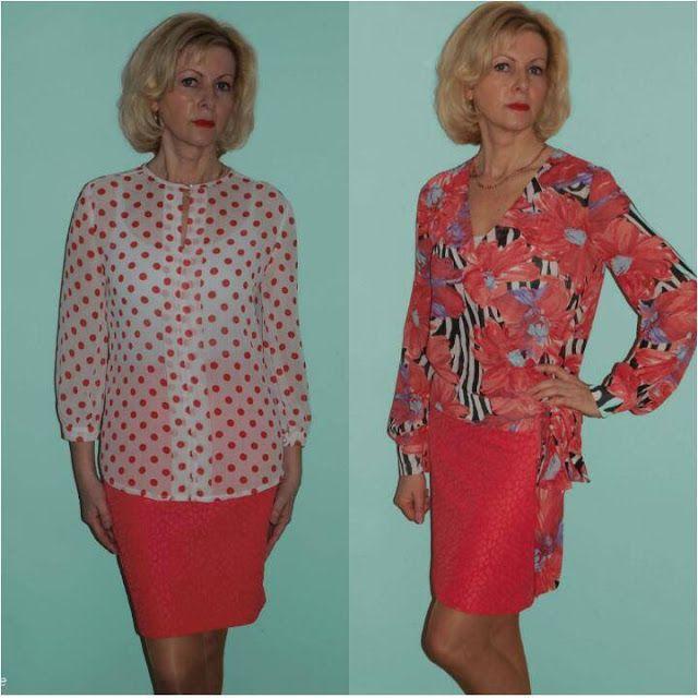 Anetta Szyje: Pudełkowa spódnica i szyfonowe bluzki.....