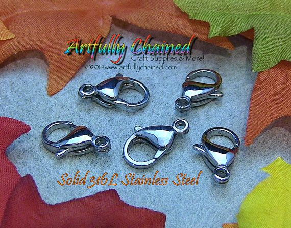 50 Pack of High Quality 12mm Lobster Clasps by ArtfullyChained, $18.99