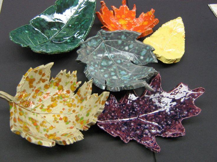 Ceramic Fall Leaves