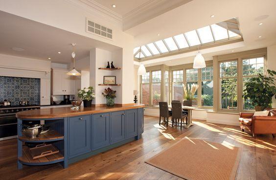 Dark Painted Kitchen - Image Via Westbury Garden Rooms