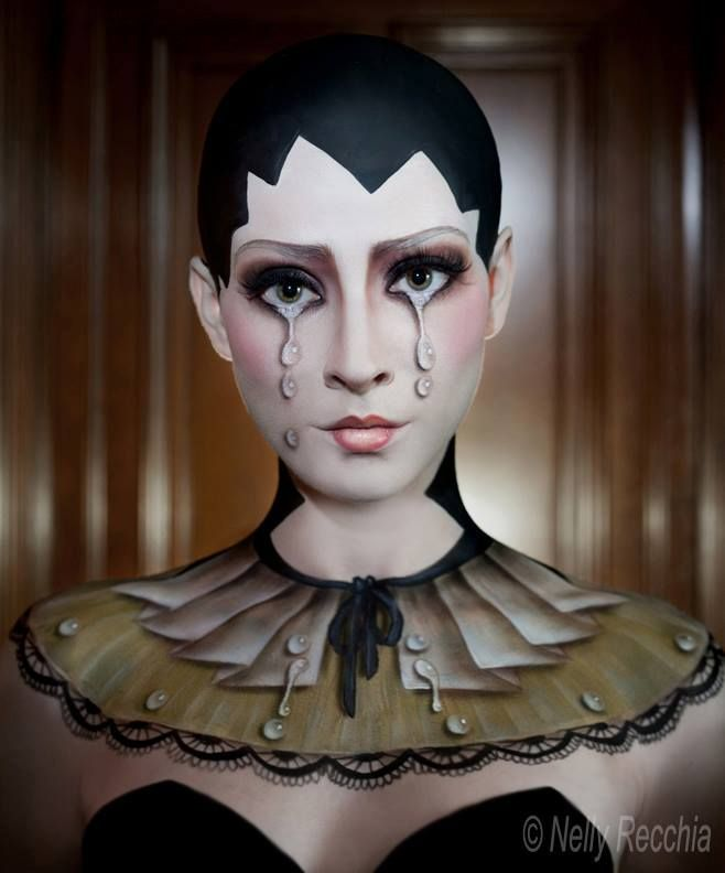 100% makeup 3D demo | Cinema Makeup School |  Tokyo School of Visual Arts http://www.nellyrecchia.com | Face & body paint