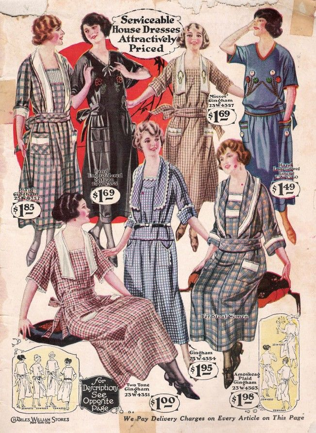 1920s Day House Dresses And Aprons 1920s Fashion Women