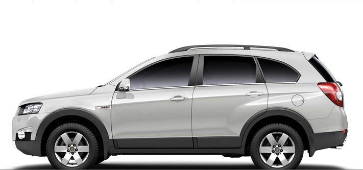 Chevrolet Captiva es un SUV de dimensiones ideales para la familia de hoy: 4.635 mm de largo, 1.850 mm de ancho y 1.755 mm de alto.
