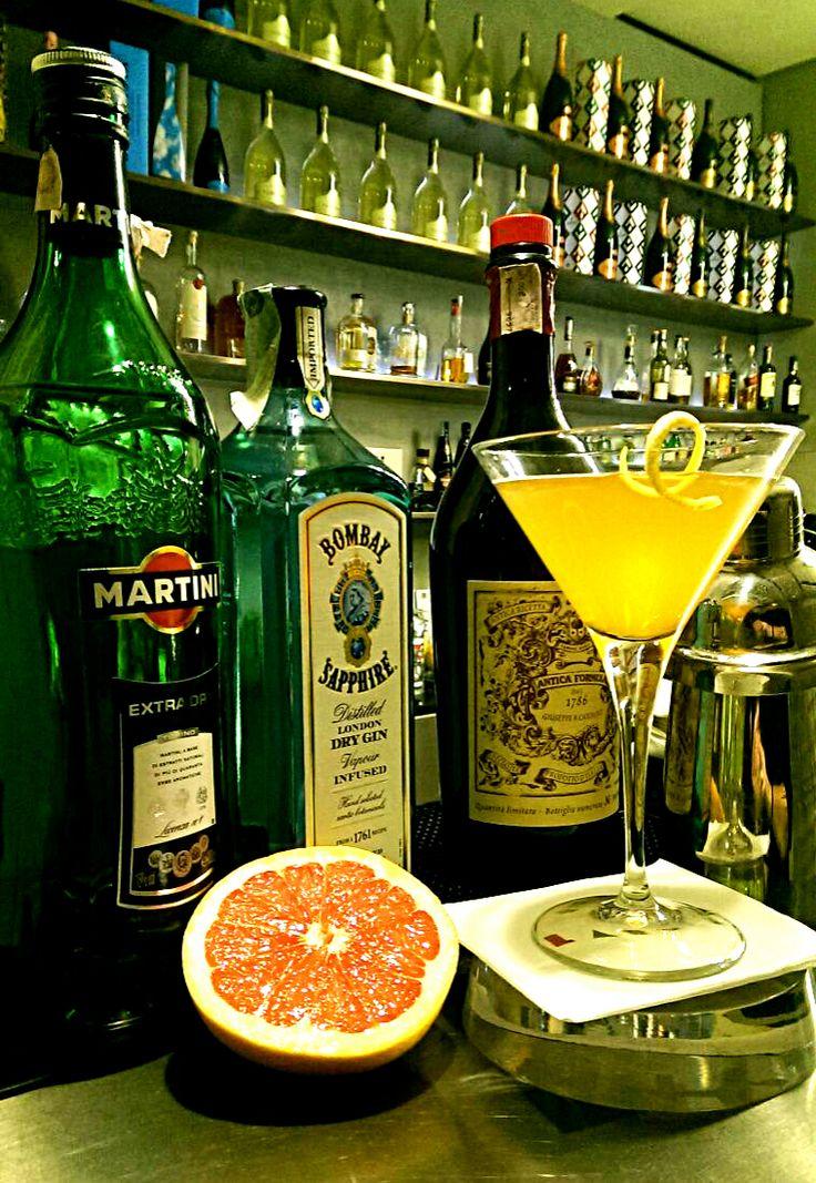 #Taste Bronx: Martina Extra Dry, Gin, Vermut Dolce e succo di arancia #drinks #milanocentro #aperitivo #larte #milano #viamanzoni5