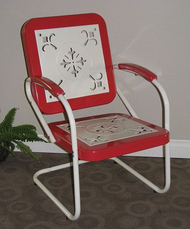 vintage red retro chair by 4d concepts zulilyfinds
