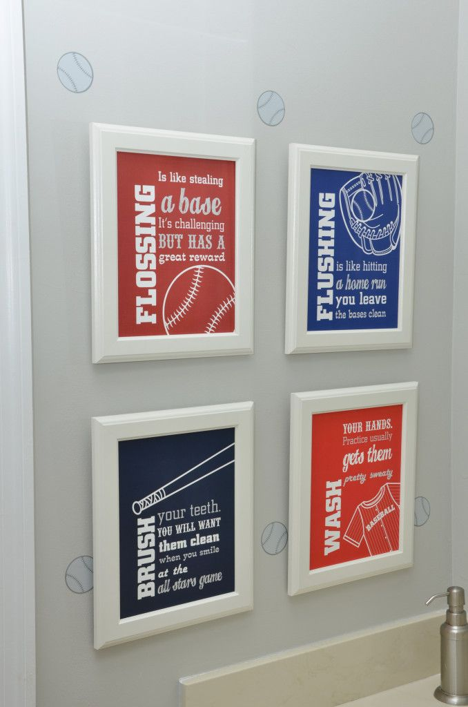 Baseball Themed Bedroom Decor Sports Bathroomboy
