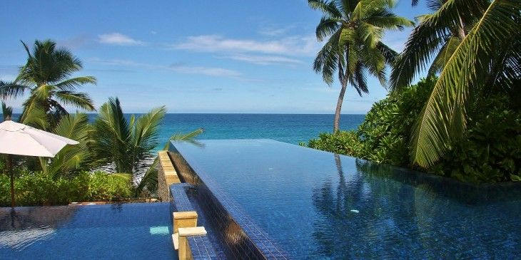 Pool at the Banyan Tree Seychelles Hotel