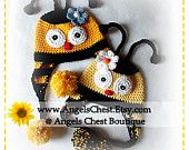 CUTE as can BEE HAT crochet pattern Pdf Format Sizes Newborn to Adult by AngelsChest Pattern No. 31