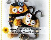 Crochet PUPPY DOG Hat PDF Pattern Sizes Newborn to Adult Boutique Design - No. 33 by AngelsChest. $6.99, via Etsy.