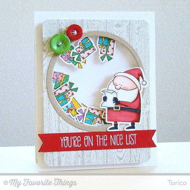 A shaker card using the Jingle All The Way stamp set and Die-namics by @mftstamps. #mftstamps #birdiebrown #cardmaking #stamping #cards #christmas #Padgram