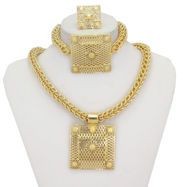 Find More Jewelry Sets Information about Big Heavy Chunky Jewellery Necklace Pendant Earrings Ring Bracelet 18K Gold Plated Women Bridal Jewelry Sets Accessories,High Quality jewelry candy,China earring bow Suppliers, Cheap jewelry ruby earrings from YIWU  CZ Jewelry  Co. on Aliexpress.com