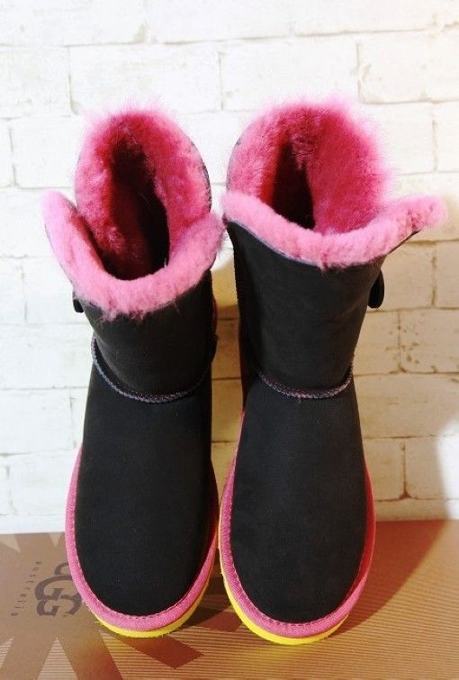 black and pink ugg boots