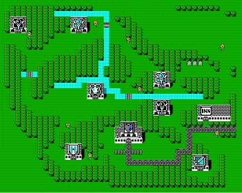 Final Fantasy 1 map - Reference for linking areas
