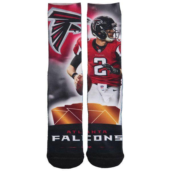 Men's Atlanta Falcons Matt Ryan For Bare Feet Red City Star Player Socks