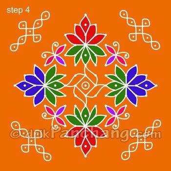 This page provides Dot Rangoli Designs with title Dot Rangoli 17 for Hindu festivals.