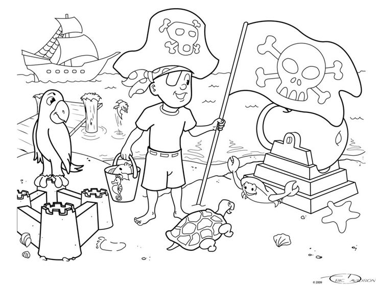 A Kid's Colouring page I created several years ago. by ~seeker64 on deviantART