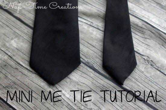 kids tie tutorial.  Super cute and super easy.