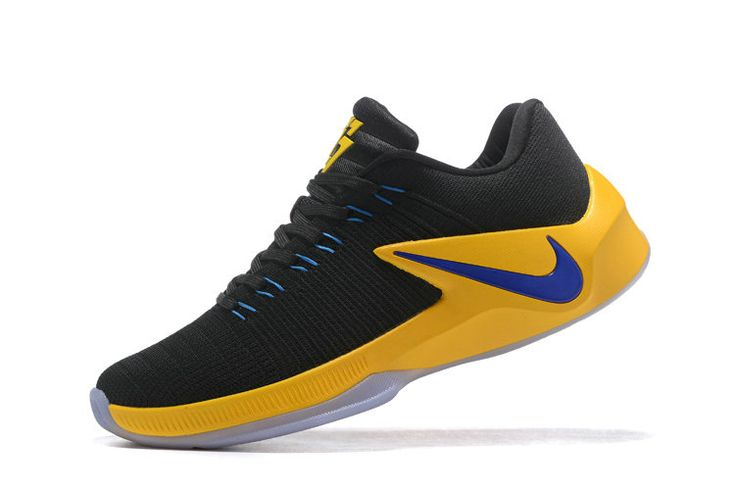 Free Shipping Only 69$ Nike Zoom Clear Out Low Draymond Green Shoes 2017 Black Gold Photo Blue