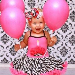 Pink Zebra Tutu Party Dress at $68.00