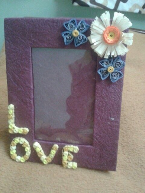 Quilled photo frame