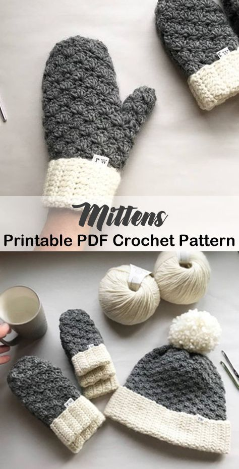 Make a pair of cozy mittens. mittens crochet patte…