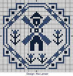 Delft Blue cross stitch pattern. - #Delft #Blue #design